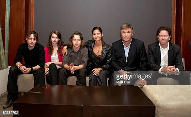 Actors Kieran Culkin Emma Roberts Rory Culkin Jill Hennessy Alec Baldwin and Timothy Hutton from the film Lymelife pose for a portrait during the...