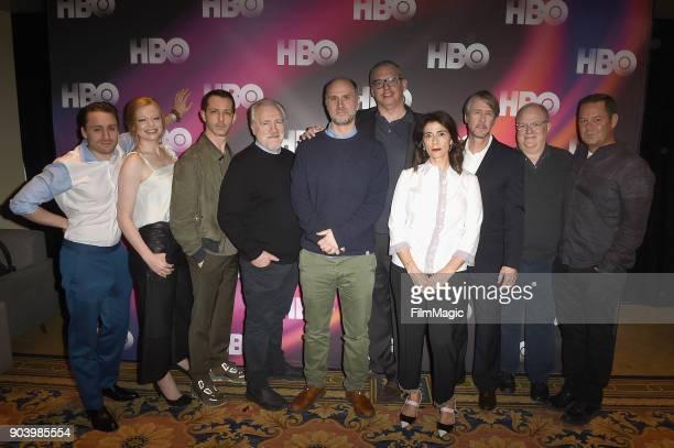 Actors Kieran Culkin Sarah Snook Jeremy Strong Brian Cox creator Jesse Armstrong executive producer Adam Mckay actor Hiam Abbass and Alan Ruck attend...