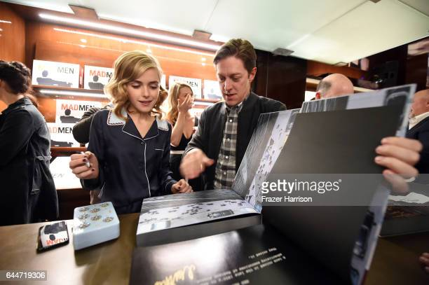 Actors Kiernan Shipka and Kevin Rahm attends the launch for Matthew Weiner's Book Mad Men at TASCHEN Store Beverly Hills on February 23 2017 in...