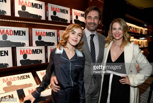 Actors Kiernan Shipka Jon Hamm and January Jones attend the launch for Matthew Weiner's Book Mad Men at TASCHEN Store Beverly Hills on February 23...