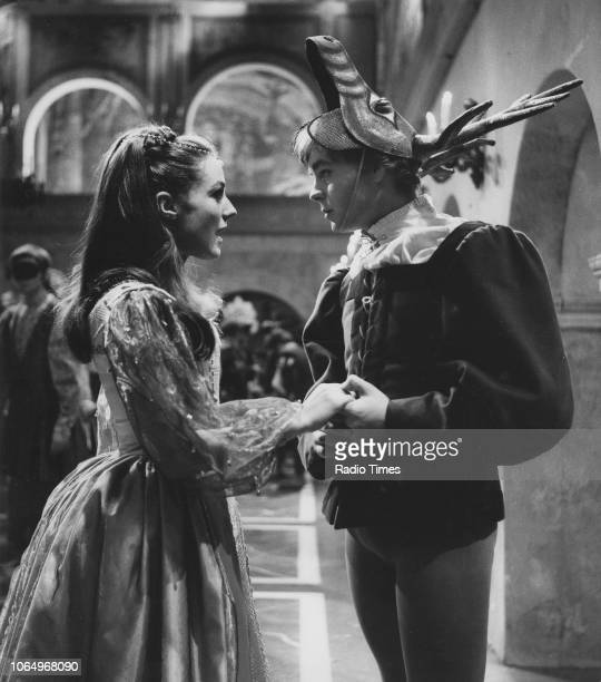 Actors Kika Markham and Hywel Bennett in a scene from the BBC Play of the Month 'Romeo and Juliet', March 9th 1967.