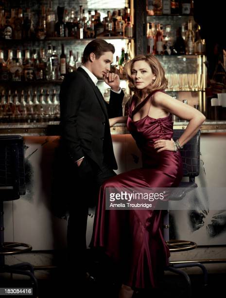 Actors Kim Cattrall and Seth Numrich are photographed for ES magazine on June 25 2013 in London England