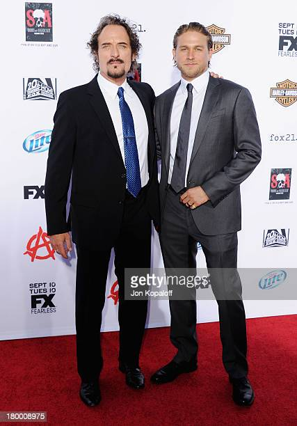 Actors Kim Coates and Charlie Hunnam arrive at FX's Sons Of Anarchy Season 6 Premiere Screening at Dolby Theatre on September 7 2013 in Hollywood...
