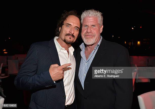 Actors Kim Coates and Ron Perlman attend The Paley Center for Media's 2013 benefit gala honoring FX Networks with the Paley Prize for Innovation...