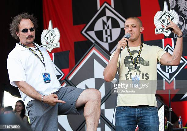Actors Kim Coates and Theo Rossi introduce the Metal Band Machine Head at the 2013 Rockstar energy drink Mayhem Festival at the San Manuel...