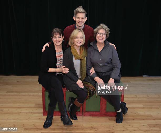 Actors Kim Crosby Cathy Rigby Pamela Myers and Andrew KeenanBolger participate in Kris Kringle The Musical preview presentation at Ripley Greer...