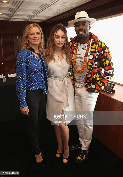 Actors Kim Dickens Alycia DebnamCarey and Coleman Domingo attend AMC at ComicCon on July 23 2016 in San Diego California