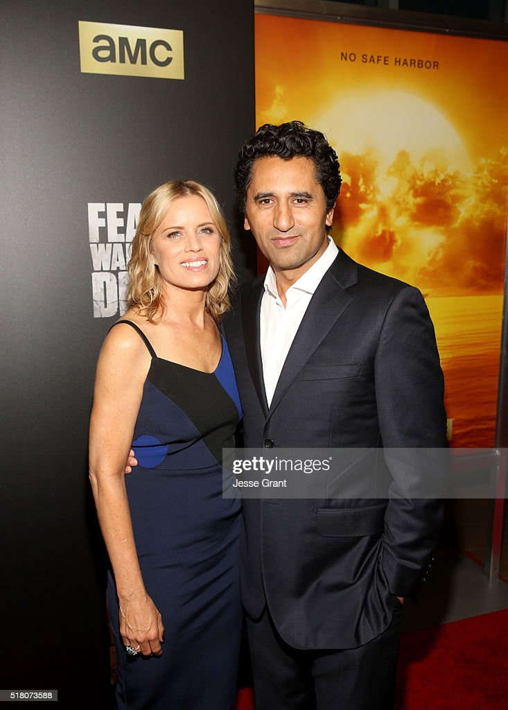 Actors Kim Dickens (L) and Cliff Curtis attend the season 2 premiere of 'Fear the Walking Dead' at Cinemark Playa Vista on March 29, 2016 in Los Angeles, California.