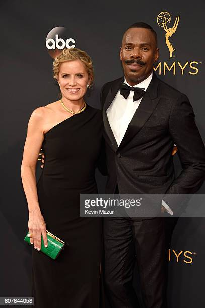 Actors Kim Dickens and Colman Domingo attend the 68th Annual Primetime Emmy Awards at Microsoft Theater on September 18, 2016 in Los Angeles,...