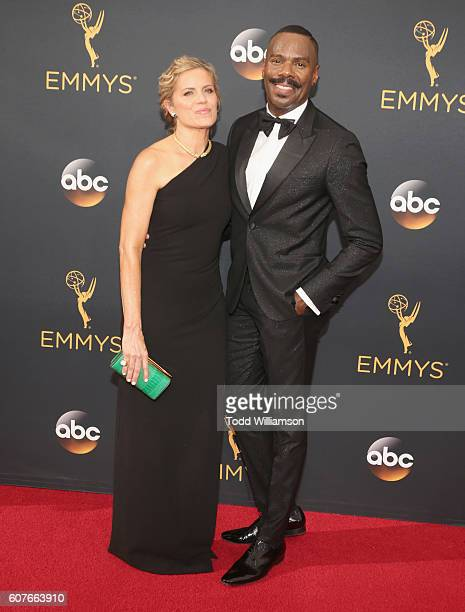 Actors Kim Dickens and Colman Domingo attend the 68th Annual Primetime Emmy Awards at Microsoft Theater on September 18 2016 in Los Angeles California