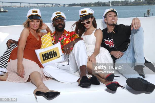 Actors Kim Dickens Colman Domingo Alycia DebnamCarey and Sam Underwood on the #IMDboat at San Diego ComicCon 2017 at The IMDb Yacht on July 21 2017...