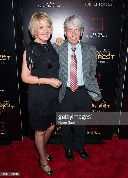 Actors Kim Hartman and John Nolan attend Person Of Interest 100th episode celebration event at 230 Fifth Avenue on November 7 2015 in New York City