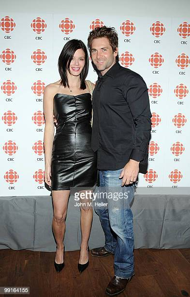 Actors Kim Kramer and Chris Kramer attend a cocktail party hosted by the Canadian Broadcasting Corporation and the Consulate General of Canada at the...