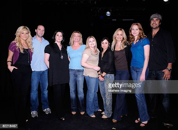 LOS ANGELES CA AUGUST 06 Actors Kimberly Caldwell Tony Hale Liza Snyder writer Robin Mesger writer Stacey Levin actor Pamela Adlon actor Jessica...