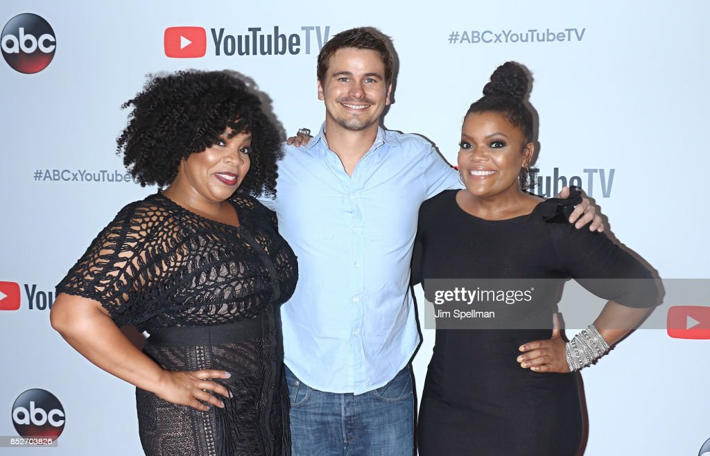 Actors Kimberly Hebert Gregory, Jason Ritter and Yvette Nicole Brown attend the ABC Tuesday Night Block Party event at Crosby Street Hotel on September 23, 2017 in New York City.
