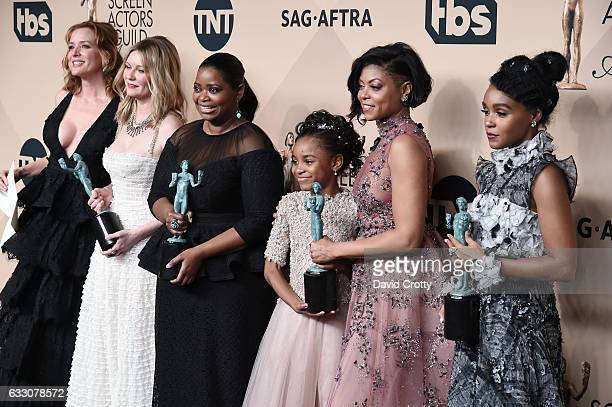 Actors Kimberly Quinn Kirsten Dunst Octavia Spencer Saniyya Sidney Taraji P Henson and Janelle Monae corecipients of the Outstanding Performance by a...