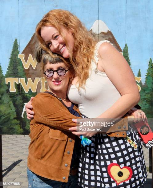 Actors Kimmy Robertson and Adele René pose at Showtime's 'Twin Peaks' Double R Diner PopUp on Melrose Avenue on October 20 2017 in Los Angeles...