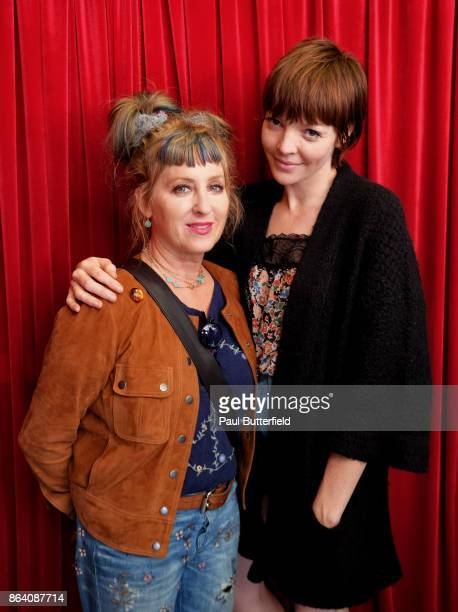 Actors Kimmy Robertson and Nicole LaLiberte pose at Showtime's 'Twin Peaks' Double R Diner PopUp on Melrose Avenue on October 20 2017 in Los Angeles...