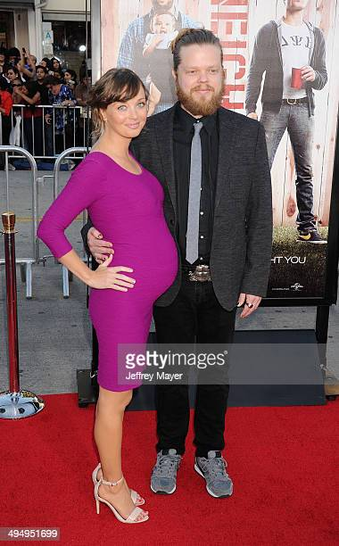Actors Kira Sternbach and Elden Henson arrive at the Los Angeles premiere of 'Neighbors' at Regency Village Theatre on April 28, 2014 in Westwood,...