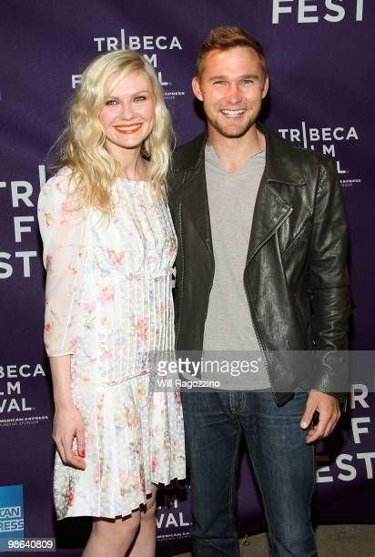 Actors Kirsten Dunst and Brian Geraghty attend Shorts Between The Lines during the 2010 Tribeca Film Festival at Village East Cinema on April 23 2010...