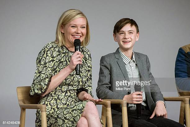 Actors Kirsten Dunst and Jaeden Lieberher attend the Apple Store Soho Presents Kirsten Dunst Jeff Nichols Michael Shannon and Jaeden Lieberher...