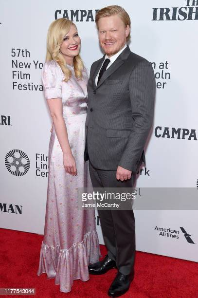 Actors Kirsten Dunst and Jesse Plemons attend The Irishman screening during the 57th New York Film Festival at Alice Tully Hall Lincoln Center on...
