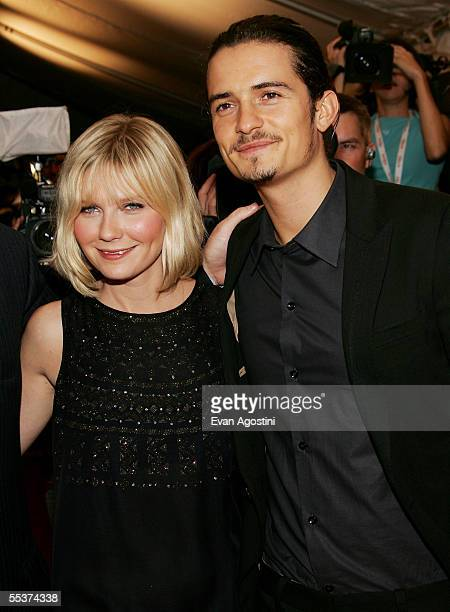 """Actors Kirsten Dunst and Orlando Bloom attend the gala premiere of """"Elizabethtown"""" at Roy Thomson Hall during the 2005 Toronto International Film..."""