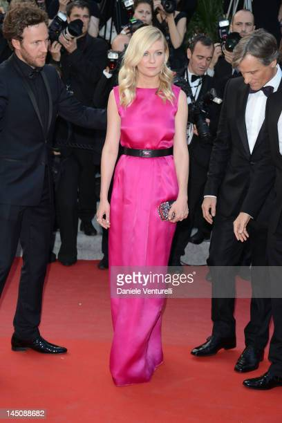 Actors Kirsten Dunst and Viggo Mortensen attend the On The Road Premiere during the 65th Annual Cannes Film Festival at Palais des Festivals on May...