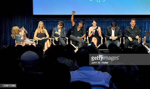 Actors Kirsten Vangsness AJ Cook Matthew Gray Gubler Shemar Moore Paget Brewster Thomas Gibson and Joe Mantegna attend the PaleyFest Fall TV Preview...