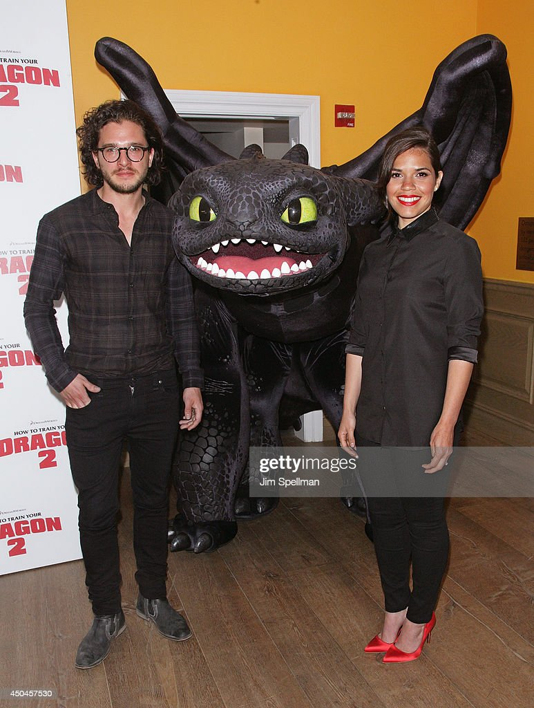 Dreamworks animation 20th century fox host a screening of actors kit harington and america ferrera attend the dreamworks animation 20th century fox screening of ccuart Image collections