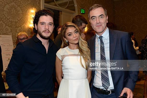 Actors Kit Harington Sarah Hyland and and James Nesbitt attend the BAFTA Los Angeles Tea Party at The Four Seasons Hotel Los Angeles At Beverly Hills...