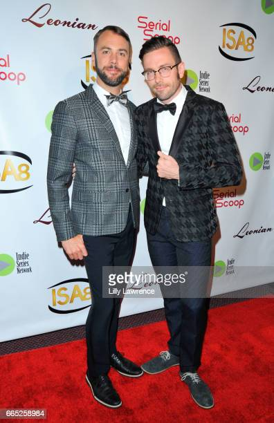 Actors Kit Williamson and John Halbach arrive at the 8th Annual Indie Series Awards at The Colony Theater on April 5 2017 in Burbank California