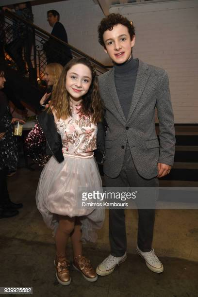 Actors Kitana Turnbull and Louis Hynes attend the Netflix Premiere of A Series of Unfortunate Events Season 2 on March 29 2018 in New York City