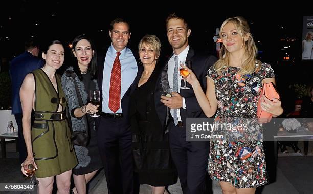 Actors KK Glick Jill Kargman Andy Buckley Joanna Cassidy Sean Kleier and Abby Elliott attend the Bravo Presents a special screening of Odd Mom Out...