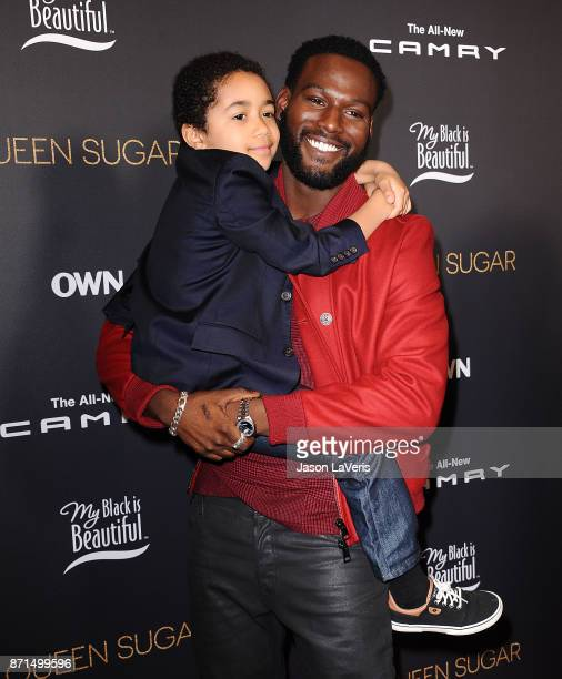 Actors Kofi Siriboe and Ethan Hutchison attend a taping of 'Queen Sugar AfterShow' at OWN on November 7 2017 in West Hollywood California
