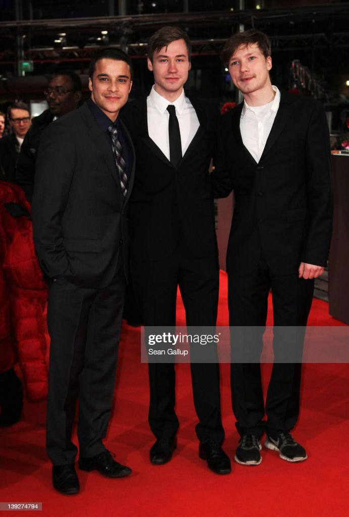 Actors Kostja Ullmann, David Kross and Jacob Matschenz attend the Closing Ceremony during day ten of the 62nd Berlin International Film Festival at the Berlinale Palast on February 18, 2012 in Berlin, Germany.