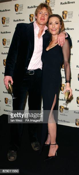 Actors Kris Marshall and Amanda Donohoe during the British Academy Television Awards sponsored by Radio Times at Grosvenor House Hotel in Park Lane...