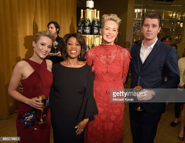 Actors Kristen Bell Alfre Woodard Sharon Stone and Garrett Hedlund attend Moet Chandon Toasts The 75th Annual Golden Globe Awards Nominations at The...