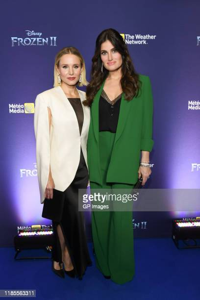 Actors Kristen Bell and Idina Menzel attend the 'Frozen 2' Fan Event held at Scotiabank Theatre on November 04 2019 in Toronto Canada