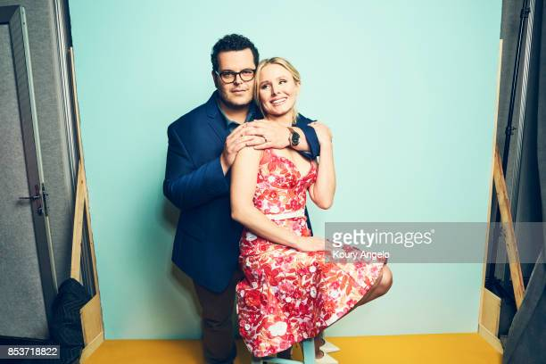 Actors Kristen Bell and Josh Gad of Disney's 'Frozen' are photographed for People Magazine on July 25 2017 at D23 Expo in Los Angeles California