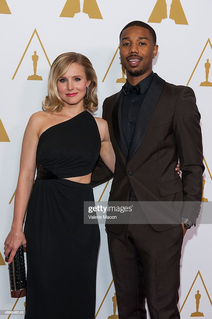 Actors Kristen Bell (L) and Michael B. Jordan arrive at the Academy Of Motion Picture Arts And Sciences' Scientific And Technical Awards Ceremony at Beverly Hills Hotel on February 15, 2014 in Beverly Hills, California.