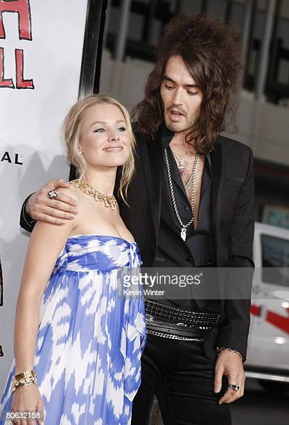 Actors Kristen Bell and Russell Brand arrive at the premiere of Universal Picture's Forgetting Sarah Marshall at the Chinese Theater on April 10 2008...