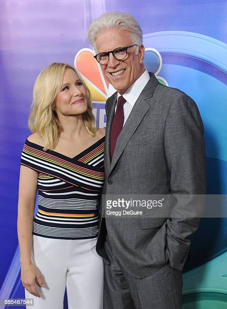 Actors Kristen Bell and Ted Danson arrive at the 2016 Summer TCA Tour NBCUniversal Press Tour Day 1 at The Beverly Hilton Hotel on August 2 2016 in...