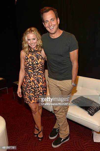Actors Kristen Bell and Will Arnett attend Nickelodeon's 27th Annual Kids' Choice Awards held at USC Galen Center on March 29 2014 in Los Angeles...