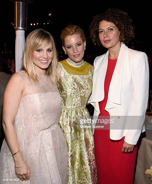Actors Kristen Bell Elizabeth Banks and Butterfly Ball CoChair Donna Langley attend the 14th annual Chrysalis Butterfly Ball sponsored by Audi Kayne...
