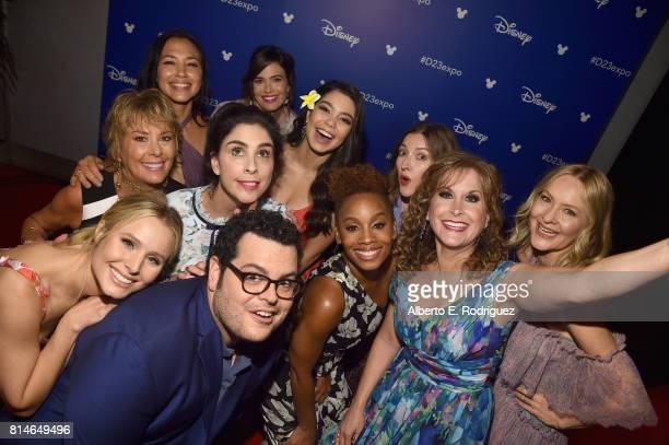 Actors Kristen Bell Josh Gad Paige O'Hara Sarah Silverman Anika Noni Rose Jodi Benson Irene Bedard Mandy Moore Auli'i Cravalho Kelly Macdonald and...
