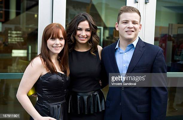 Actors Kristen DellaPace Kristina Kruz and Jonathan Lipnicki attend the Premiere Of Edge Of Salvation at ArcLight Cinemas on December 6 2012 in...
