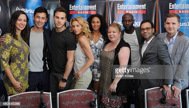 Actors Kristen Gutoskie George Young Chris Wood Christina Marie Moses and Claudia Black executive producer Julie Plec actor David Gyasi and...