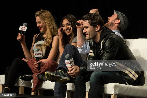 Actors Kristen Hager Meaghan Rath Sam Huntington and Sam Witwer talk about their experiences on their show Being Human in the Spotlight on Being...