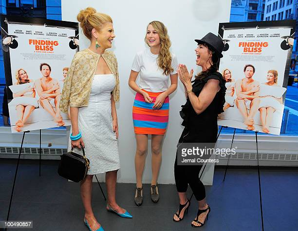 Actors Kristen Johnston Leelee Sobieski and Donnamarie Recco attend a screening of Finding Bliss at the Museum of Sex on May 24 2010 in New York City